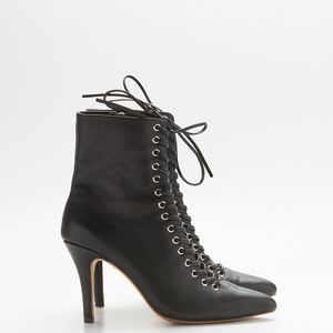 RAYE Black Lace Up Tyler Bootie